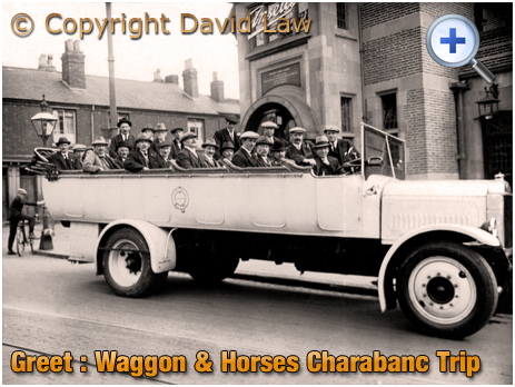 Birmingham : Charabanc Trip from the Waggon and Horses on Warwick Road at Greet [c.1928]