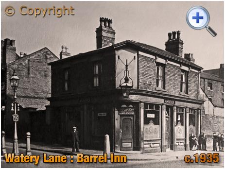 Birmingham : The Barrel Inn on Watery Lane at Bordesley [c.1935]
