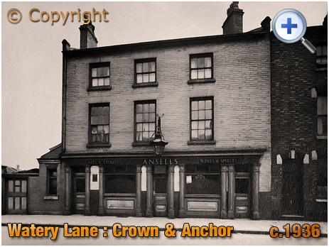 Birmingham : The Crown and Anchor on Watery Lane at Bordesley [c.1936]