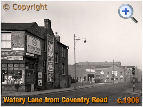 Birmingham : Watery Lane from Coventry Road at Bordesley [1958]