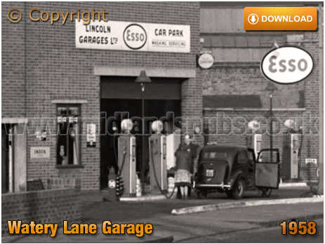 Birmingham : Watery Lane Garage at Bordesley [1958]