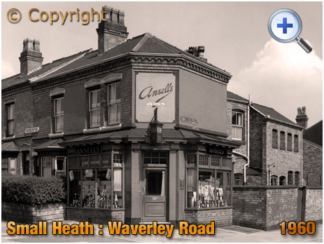 Birmingham : Off-Licence on the corner of Waverley Road and Oldknow Road at Small Heath [1960]