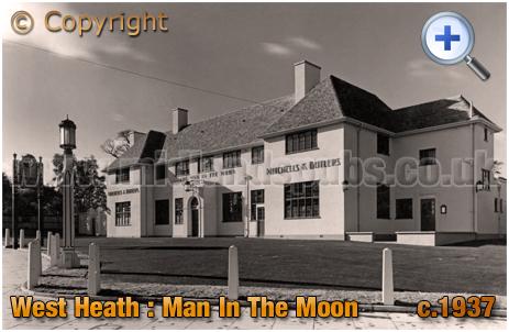 Birmingham : The Man In The Moon on Redditch Road at West Heath in Northfield [1927]