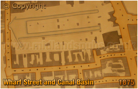 Birmingham : Extract from a plan of the Gooch Estate showing Wharf Street [1875]