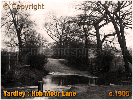 Birmingham : Hob Moor Lane crossing of River Cole at Yardley [c.1905]
