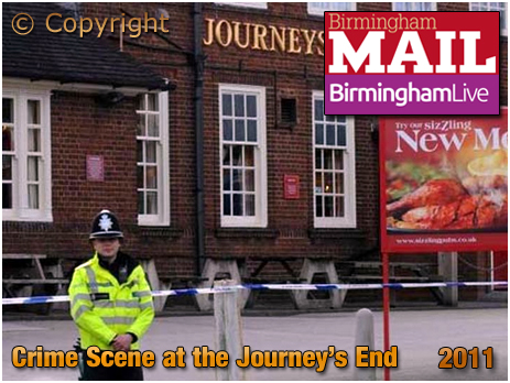 Birmingham : Crime Scene at the Journey's End at Clay Lane in Yardley [2011]