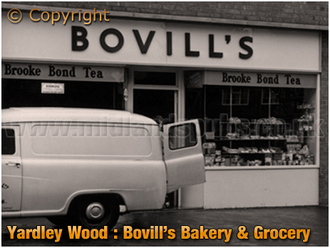 Birmingham : Bovill's Bakery and Grocery Store on Trittiford Road at Yardley Wood [1958]