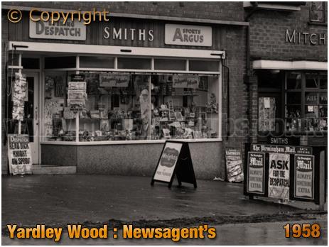 Birmingham : Smith's Newspaper and Stationery Shop on Trittiford Road at Yardley Wood [1958]
