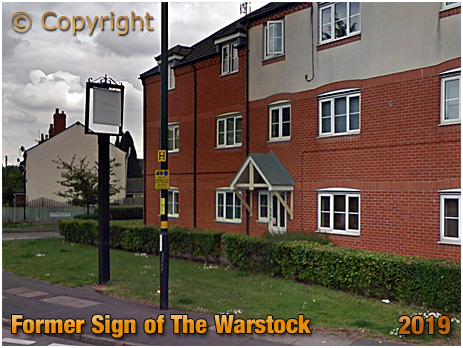 Birmingham : Former Inn Sign of The Warstock at Yardley Wood [2019]