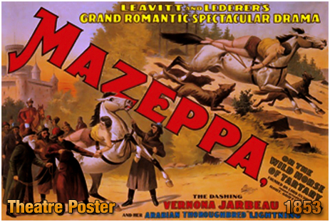 Theatre Poster for Mazeppa or The Wild Horse of Tartary [1853]