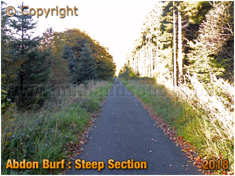 Brown Clee : Steep Section of Tarmac Road to Abdon Burf [2018]