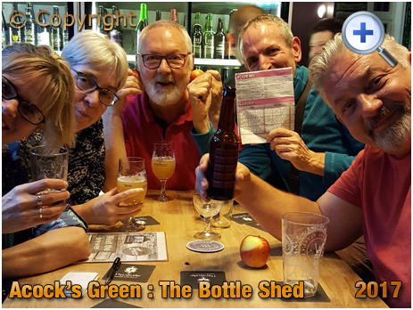 Birmingham : Quiz Winners and Losers at The Bottle Shed within The Inn On The Green at Acock's Green [2017]