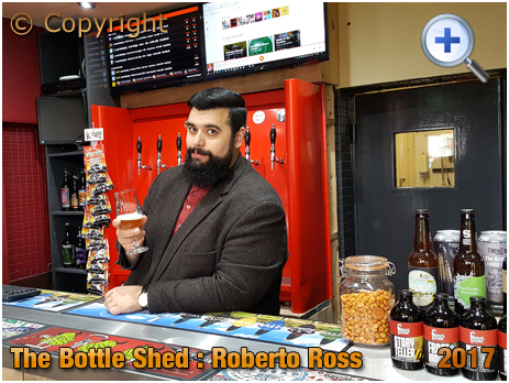 Birmingham : Roberto Ross of The Bottle Shed within The Inn On The Green at Acock's Green [2017]