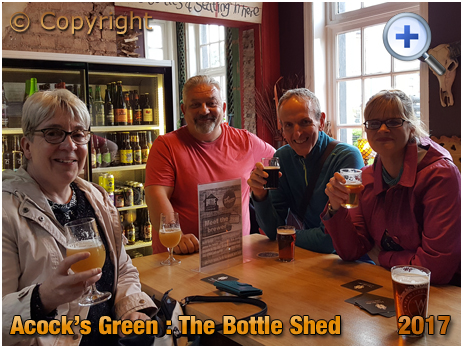 Birmingham : Drinkers at The Bottle Shed within The Inn On The Green at Acock's Green [2017]