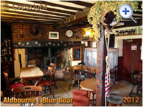 Wiltshire : Interior of the Blue Boar at Aldbourne [2012]