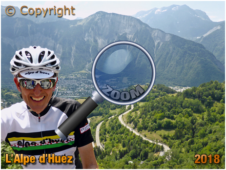 Cyclist with Bends of L'Alpe d'Huez #91;2018]