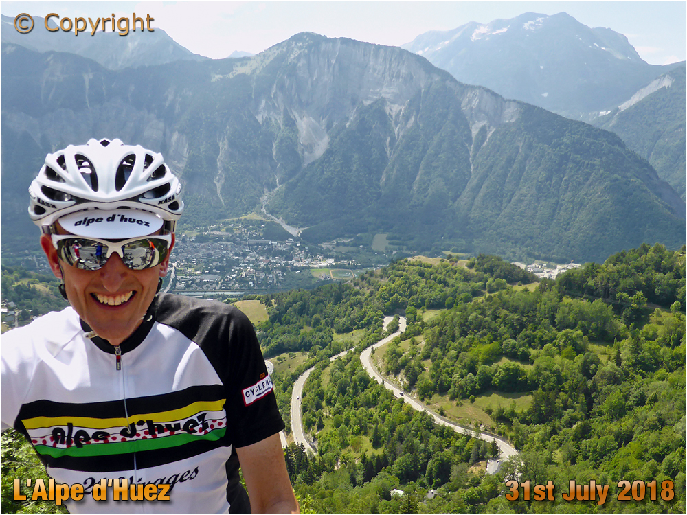 Cyclist with Bends of L'Alpe d'Huez [2018]