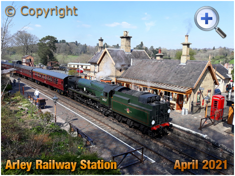 Arley Railway Station with Steam Locomotive [2021]