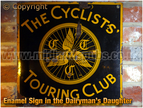 Arreton : CTC Enamel Sign in the Dairyman's Daughter [2012]