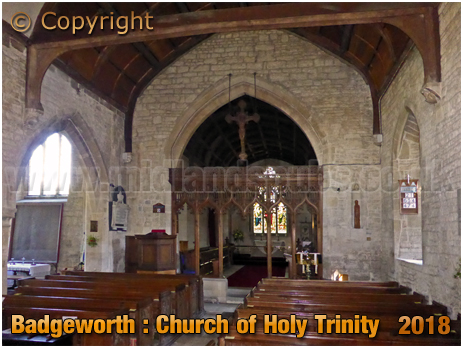Badgeworth : Interior of the Church of the Holy Trinity [2018]