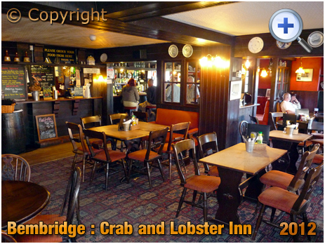 Isle of Wight : Interior of The Crab and Lobster Inn at Bembridge [2012]