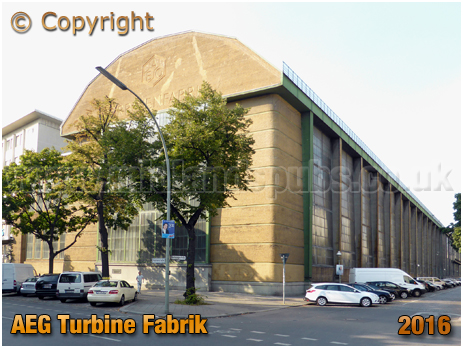 Berlin : AEG Turbinenfabrik at Huttenstraße in Moabit [September 2016]