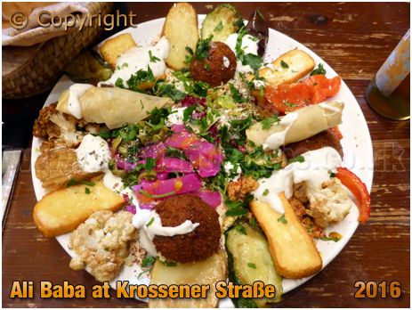 Berlin : Mixed Platter at Ali Baba on Krossener Straße [September 2016]