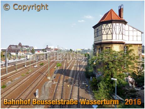 Berlin : Bahnhof Beusselstraße Wasserturm [September 2016]
