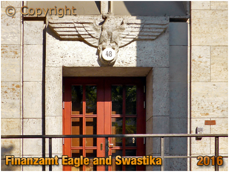 Berlin : Finanzamt Eagle and Swastika at Bismarckstraße [September 2016]