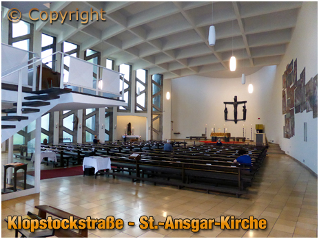 Berlin : Interior of St.-Ansgar-Kirche at Klopstockstraße [September 2016]