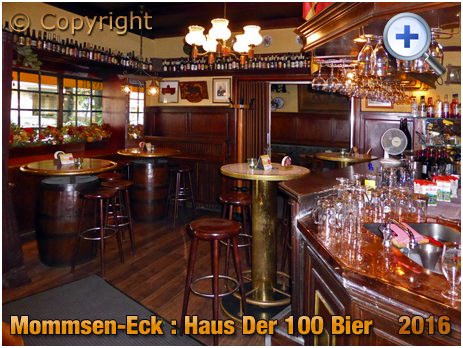 Berlin : Bar of Mommsen-Eck Haus der 100 Bier on Mommsenstraße [September 2016]
