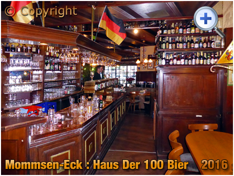 Berlin : Interior of Mommsen-Eck Haus der 100 Bier on Mommsenstraße [September 2016]