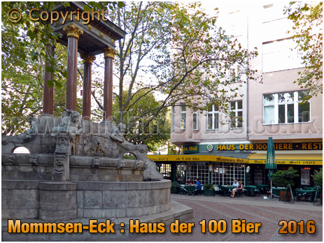 Berlin : Mommsen-Eck Haus der 100 Bier on Mommsenstraße [September 2016]