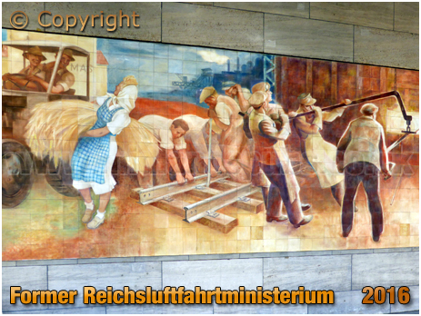 Berlin : Socialist Mural at the former Reichsluftfahrtministerium [September 2016]