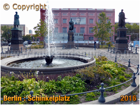 Berlin : Statues of Karl Friedrich Schinkel, Christian Peter Wilhelm Beuth and Albrecht Thaer at Schinkelplatz [September 2016]