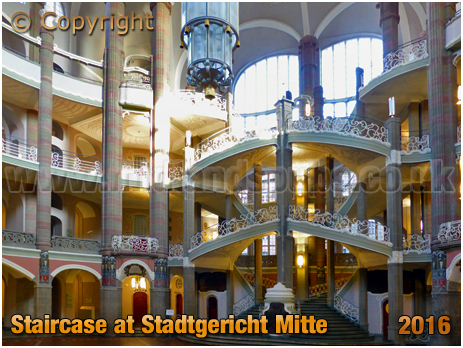 Berlin : Staircase at Stadtgericht Mitte [September 2016]