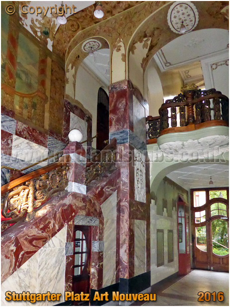Berlin : Art Nouveau inside Stuttgarter Platz 20 [September 2016]