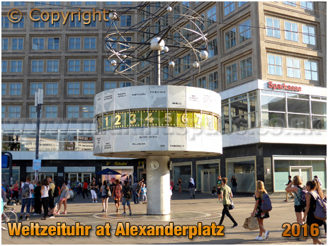 Berlin : Weltzeituhr at Alexanderplatz [September 2016]