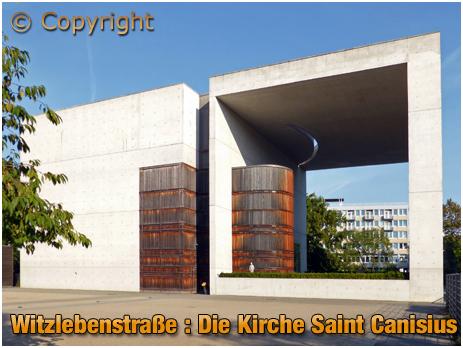 Berlin : Die Kirche Saint Canisius at Witzlebenstraße [September 2016]