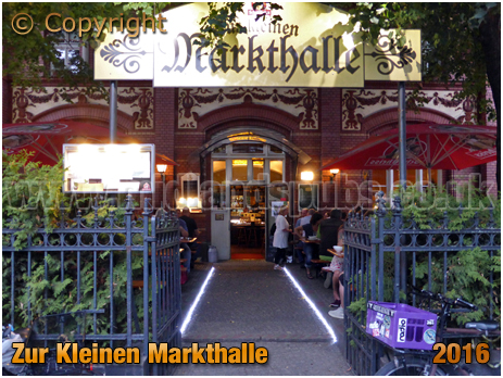 Berlin : Zur Kleinen Markthalle at Legiendamm 32 [September 2016]