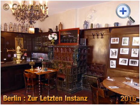 Berlin : Interior of Zur Letzten Instanz at Waisenstraße 14-6 [September 2016]