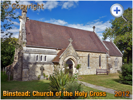 Isle of Wight : Church of the Holy Cross at Binstead [2012]