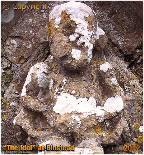 Isle of Wight : The Idol at the Church of the Holy Cross at Binstead [2012]