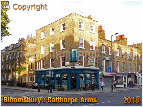 Bloomsbury : The Calthorpe Arms on Grays Inn Road [2018]