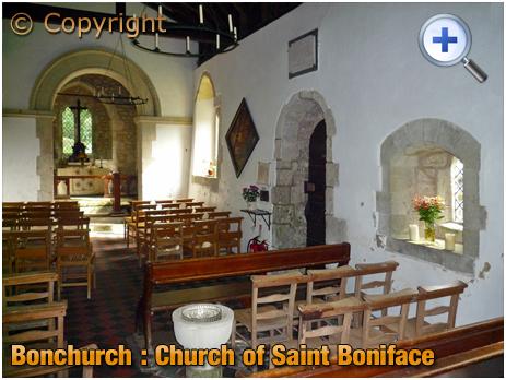 Isle of Wight : Interior of the Church of Saint Boniface at Bonchurch [2012]
