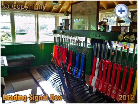 Isle of Wight : Railway Station Signal Box at Brading [2012]