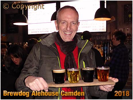 Tipple Board at Brewdog in Camden Town