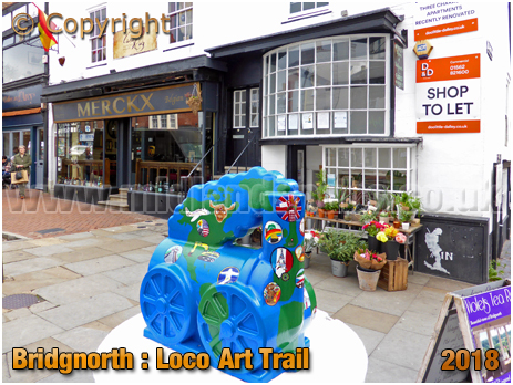 "Bridgnorth : ""Excellence Through Innovation,"" on ""Catch-Me-Who-Can"" Locomotive Art Trail [2018]"