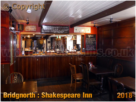Bridgnorth : Shakespeare Inn on West Castle Street [2018]