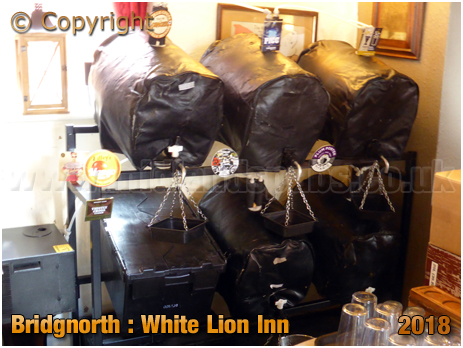 Bridgnorth : Beer Festival Stillage at the White Lion Inn on West Castle Street [2018]